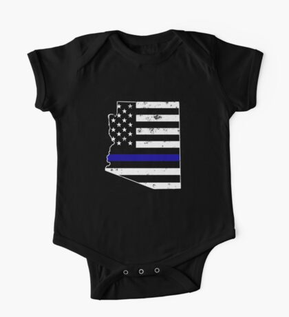 Arizona Thin Blue Line Police One Piece - Short Sleeve