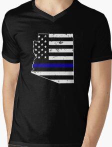 Arizona Thin Blue Line Police Mens V-Neck T-Shirt