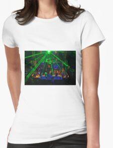 Laser light show Womens Fitted T-Shirt