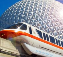 Iconic Monorail at EPCOT Sticker