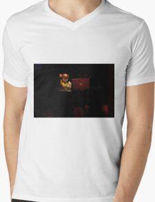 DJ spinning Mens V-Neck T-Shirt