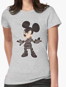 Black Minnie Womens Fitted T-Shirt