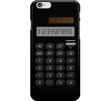 Retro Calculator  iPhone Case/Skin