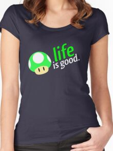 Life is Good Women's Fitted Scoop T-Shirt