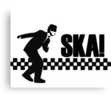 Ska Music Stencil Canvas Print