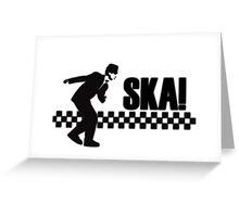 Ska Music Stencil Greeting Card