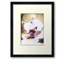 White Snow Framed Print