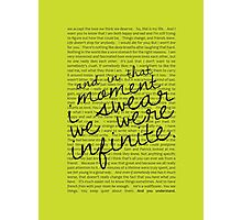 We Were Infinite - Quotes - Green Photographic Print