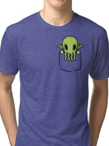 Pocket Cthulhu Tri-blend T-Shirt