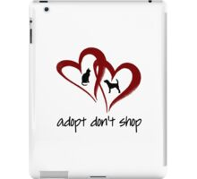 ADOPT DON'T SHOP (red) iPad Case/Skin