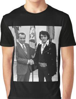 Nixon and Elvis Presley Graphic T-Shirt