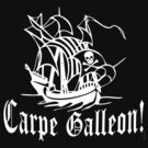 Carpe Galleon!  Pirate Ship Art by Greenbaby