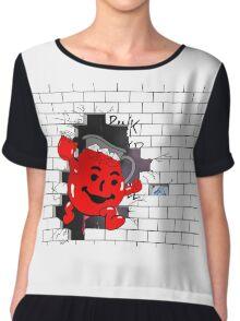 Kool Aid Man x Pink Floyd Chiffon Top