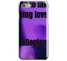 Fear of Being Loved, Allegiance to the Pain - Never Be Like You - Flume - Lyrics iPhone Case/Skin