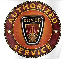 Rover Vintage Cars UK Poster