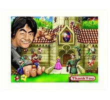 Thank you Miyamoto - Nintendo Art Print