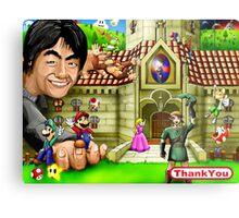 Thank you Miyamoto - Nintendo Metal Print
