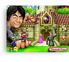 Thank you Miyamoto - Nintendo Canvas Print