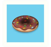 Chocolate Donut with Sprinkles Art Print