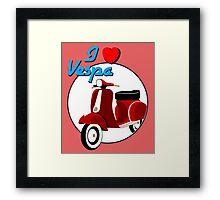 Vintage Red Scooter Framed Print