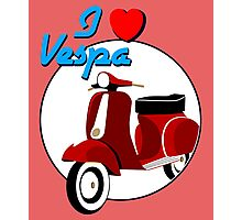 Vintage Red Scooter Photographic Print