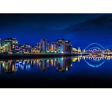 Blue hour on the Quayside newcastle  Photographic Print