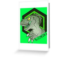 Prehistoric XM Artifact R.A.P.T.O.R.S. Greeting Card