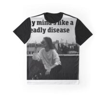 My Mind's Like A Deadly Disease - Control - Halsey - Lyrics Graphic T-Shirt