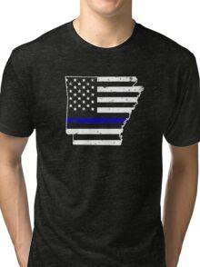 Arkansas Thin Blue Line Police Tri-blend T-Shirt