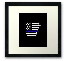 Arkansas Thin Blue Line Police Framed Print