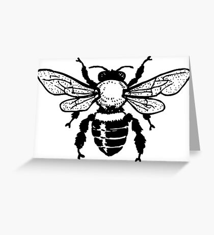 Insect honey bee art Greeting Card