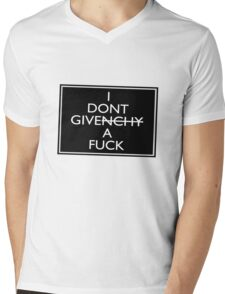 I Don't Give A Fuck (Givenchy) Mens V-Neck T-Shirt