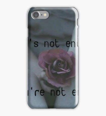 You're Not Enough - Aishite Aishite Aishite - Miku Hatsune - Lyrics iPhone Case/Skin