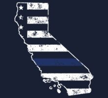 California Thin Blue Line Police One Piece - Long Sleeve