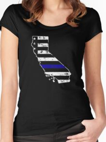 California Thin Blue Line Police Women's Fitted Scoop T-Shirt