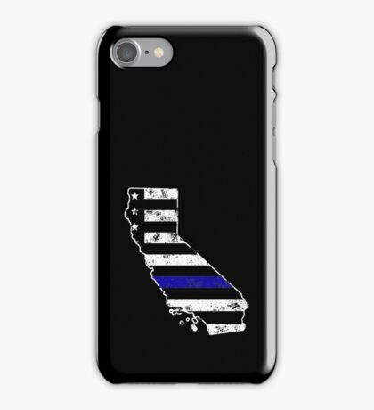 California Thin Blue Line Police iPhone Case/Skin