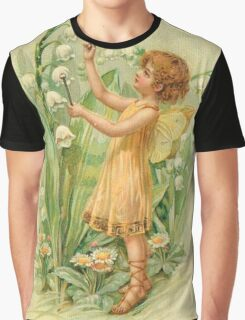 Fairy,flowers,angel,rustic,grunge,collage,wings,romantic Graphic T-Shirt