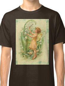 Fairy,flowers,angel,rustic,grunge,collage,wings,romantic Classic T-Shirt