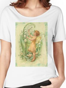 Fairy,flowers,angel,rustic,grunge,collage,wings,romantic Women's Relaxed Fit T-Shirt