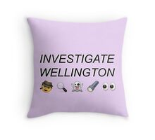 Investigate Wellington Throw Pillow