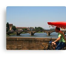 Bike Taxi, Florence Canvas Print