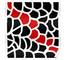 Red and black pattern Poster