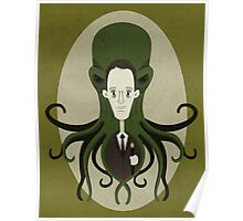 H. P. Lovecraft and Friend Poster