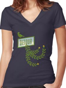 Detour Summer Journey Women's Fitted V-Neck T-Shirt