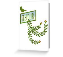 Detour Summer Journey Greeting Card