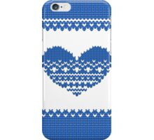 Blue Knitted Look Love Heart Style iPhone / iPad / Case / Pillow / Tote Bag/ Samsung Galaxy Case / Duvet iPhone Case/Skin