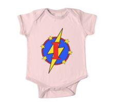 My Cute Little Super Hero - Letter I One Piece - Short Sleeve