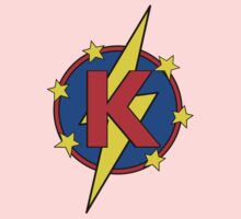 My Cute Little Super Hero - Letter K Kids Tee