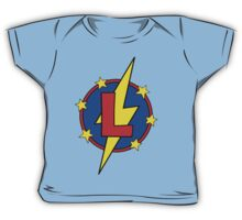 My Cute Little Super Hero - Letter L Baby Tee