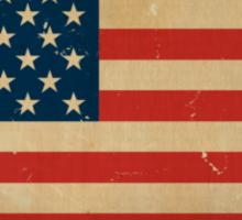 US Flag VINTAGE Sticker